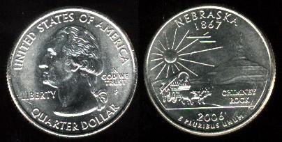United states of america quarter dollar